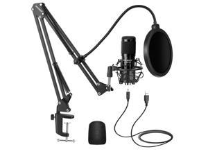 Neewer Upgraded USB Microphone Kit with 25mm Large Capsule, 192kHz/24-Bit Plug & Play Ultra-Cardioid Podcast Condenser Mic with Pro Sound Chipset for Home/Studio Recording, Streaming (NW-8000-USB)