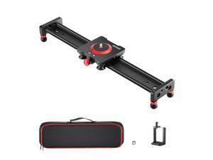 Neewer Camera Slider Aluminum Alloy Dolly Rail, 16''/40cm with 4 Bearings, Compatible with iPhone & Android Cell Phones and Mirrorless Cameras, Load up to 2.2lbs/1kg