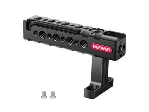 """Neewer Top Handle Grip with Locating Point Compatible with Arri, Adjustable Camera Handle with 1/4"""" and 3/8"""" Mounting Points, Cold Shoe Mount for Video Camera Cages, LED Lights, and Microphones–VS104"""