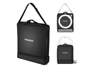 """Neewer Photography Carrying Bag, Protective Case for 18"""" Ring Light and 21"""" Foldable Tripod Light Stand, 21""""×21""""/52×52cm, Durable Lightweight Nylon, Black"""