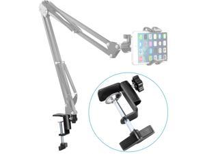 "Neewer® Heavy-duty Metal Table Mounting Clamp for Microphone Suspension Boom Scissor Arm Stand Holder with an Adjustable Positioning Screw, Fits up to 1.97""/5cm Desktop Thickness--Black"