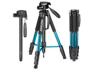 Neewer Portable Aluminum Alloy Camera Tripod Monopod 70inches/177centimeters with 3-Way Swivel Pan Head, Carrying Bag for Canon Nikon Sony DSLR Camera Camcorder up to 8.8 pounds/4 kilograms (Blue)
