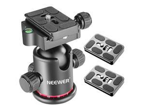 Neewer Photography Metal 360 Degree Rotating Panoramic Ball Head with Universal Quick Shoe plate with Bubble Level for Tripod, Monopod, Slider, DSLR Camera, Camcorder, Load Capacity up to 17.6 pounds