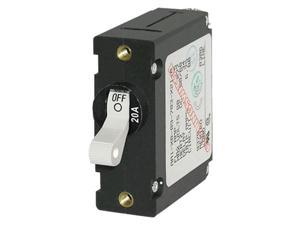 Blue Sea 7214 AC / DC Single Pole Magnetic World Circuit Breaker  -  20 Amp