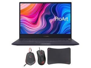 """ASUS ProArt StudioBook 17 H700GV Workstation Laptop (Intel i7-9750H 6-Core, 64GB RAM, 1TB PCIe SSD, 17.0"""" 1920x1200, NVIDIA RTX 2060, Win 10 Pro) with Gaming Mouse , Carry Case , Mouse Pad"""