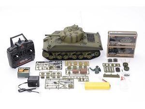 HengLong 2.4GHz American M4A3 Sherman, RC 1:16 scale Battle Tank, Ready-to-run 3898-1