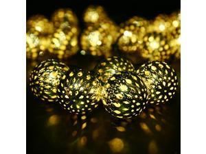 Alker Globe Battery Powered 10 LED Fairy String Light for Indoor Christmas Wedding Parties Patio Gardens Bedroom - Warm White