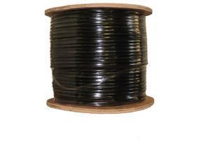 COAXIAL BLACK CABLE RG6 1000FT COAX CATV RG-6 1000' TV BULK