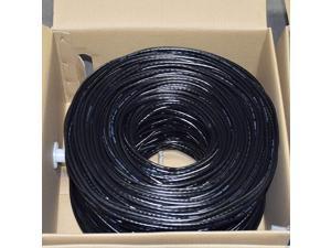Premiertek CAT6-CCA-1KFT-BK 1000Ft Cat6 Black Utp 23Awg Cca Network Cable 4Pr