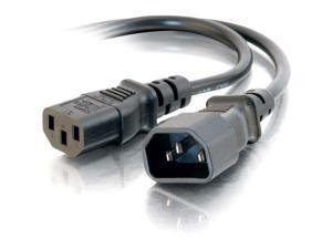C2G 30823 14 AWG 250 Volt Power Extension Cord - IEC320C14 (C14) to IEC320C13 (C13), TAA Compliant, Black (6 Feet, 1.82 Meters)