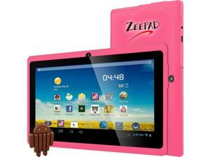"""Worry Free Gadgets 7DRK-Q Quad Core Processor 1.80 GHz 512 MB Memory 4 GB Flash Storage 7.0"""" 800 x 480 Tablet Android 4.4 (KitKat) Pink"""