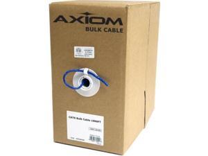 Axiom CAT5e Plenum Bulk Cable Spool 1000FT (White) - 1000 ft Category 5e Network Cable for Network