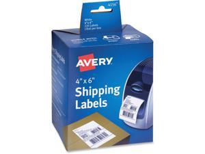 Avery Thermal Printer Shipping Labels 4 x 6 White 220/Roll 1 Roll 4156