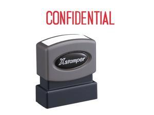 """Confidential Ink Stamp 1/2""""x1-5/8"""" Red Ink"""
