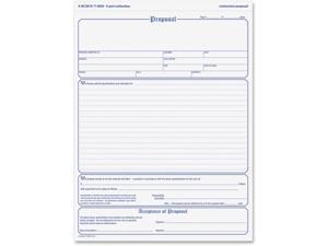 Adams 3-part Carbonless Contractors Proposal Forms