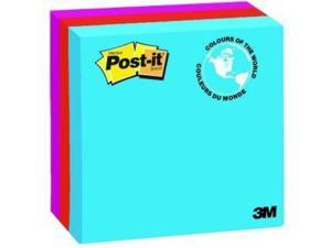 "Post-it Notes 4"" x 4"" Jaipur Collection Lined 200 Sheets/Pad 474789"