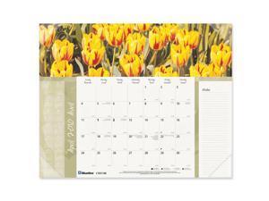 Blueline Image Collection Floral Panoramic Desk Pad Calendar