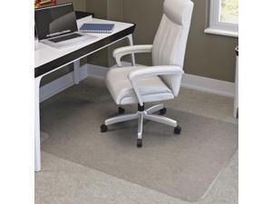 SuperMat Frequent Use Chair Mat Medium Pile Carpet Beveled 36x48 w/Lip Clear