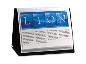 "Lion Office Products Display Book Horizontal Easel 11""x8-1/2"" Black 39008"