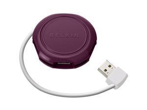 Belkin F4U006-PLM 4-port Travel USB Hub
