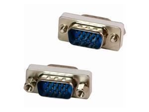 4XEM 4XVGAMM 4XEM VGA HD15 Male To Male Gender Changer Adapter - 1 x HD-15 Male VGA - 1 x HD-15 Male VGA - Silver, Yellow