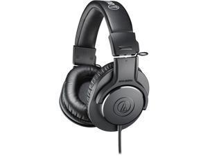 Audio-Technica ATH-M20x Professional Studio Monitor Headphones- Black