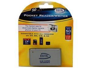Sakar 50-in-1 USB 2.0 Pocket Reader and Writer