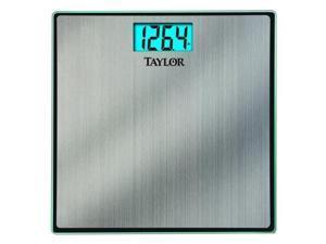 TAYLOR 74074102 LCD Bath Scale, 180kg/400 lb. Cap., 0.09kg/0.2 lb. Graduations