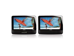 """Philips Portable DVD Player with 9"""" LCD Dual Screen 