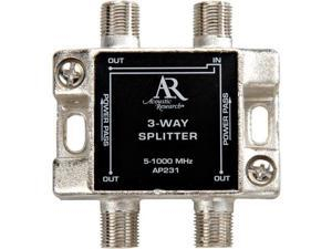 Audiovox Acoustic Research Performance Series 3-Way Antenna Splitter