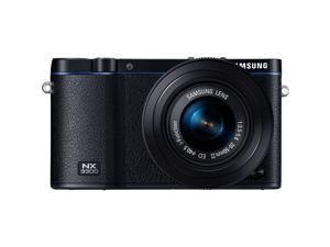 Samsung NX3300 20.3 Megapixel Mirrorless Camera with Lens - 20 mm - 50 mm - Black