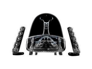 Harman Kardon SoundSticks III Series SOUNDSTICKS3AM-A 2.1 Speaker System - 40 W RMS - Bookshelf, Desktop - Black, Clear