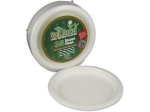 "StalkMarket Sugarcane Fiber 7"" Disposable Plates"
