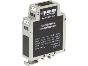 Black Box ICD103A Box Din Rail Repeater With Opto-Isolation, Rs-232