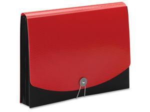 Smead Poly Frequency Expanding File 12 Pockets Black/Red Flap 70866