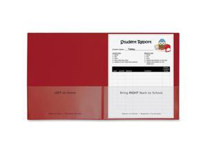 C-Line Classroom Connector Folders, Red, 25/BX, 32004