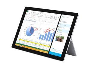 "Microsoft Surface Pro 3 QF2-00019 Intel Core i5 4th Gen 4300U (1.90 GHz) 4 GB Memory 128 GB SSD Intel HD Graphics 4400 12"" Touchscreen 2160 x 1440 Detachable 2-in-1 Tablet Windows 10 Pro 64-Bit"