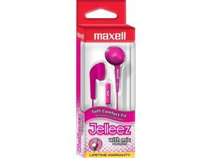 Maxell 191571 Jelm-Pk Earbud With Mic Jelleez Series Pink Earbud