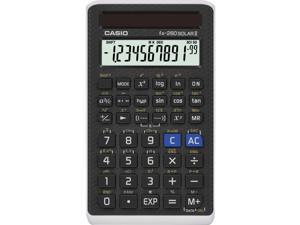 "Casio Scientific Calculator 10-2 Digit 63/100""Wx2-9/10""Lx5""H BK FX260SOLARII"