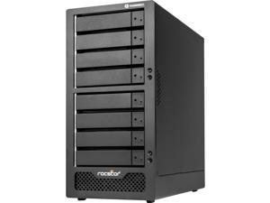 Rocstor Rocpro T38 64TB 7200 RPM Thunderbolt 3 RAID 8-BAY - 8 x HDD Supported - 8 x HDD Installed - 64 TB 7200RPM Installed HDD Capacity - Serial ATA/600 - RAID Controller 0, 1, 5, 6, 10, 50, 60 &