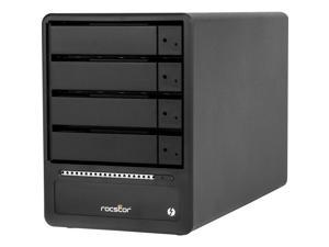 Rocstor Rocpro T34 32TB 7200 RPM Thunderbolt 3 RAID 4-Bay - 4 x HDD Supported - 4 x HDD Installed - 32 TB 7200RPM Installed HDD Capacity - Serial ATA - RAID Controller 0, 1, 5, 10, JBOD - 4 x Total