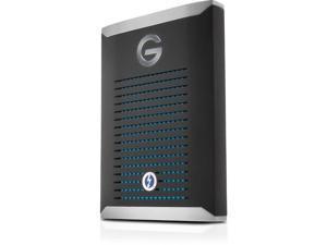 G-Technology 500GB G-DRIVE Mobile Pro SSD Durable Portable External Storage, Thunderbolt 3 (0G10310)