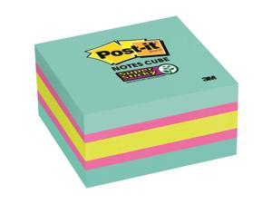 "3M Post-it Note Cube Super Sticky 3""x3"" 360/Cube Aqua Wave 2027SSAFG"