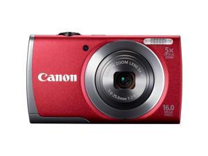 Canon PowerShot A3500 IS 16 Megapixel Compact Camera - Red