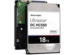 "WD Ultrastar DC HC550 18TB Hard Drive 3.5"" Internal 512MB SATA 7200 RPM 512E SE NP3 DC HC550 0F38459 (WUH721818ALE6L4)"