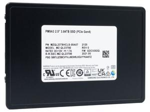 Samsung PM9A3 3.84TB PCIe Gen4 x4 NVMe U.2 Enterprise SSD — MZQL23T8HCLS-00A07 (MZ-QL23T80)