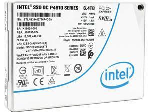 """Intel DC P4610 1.6TB PCIe 3.1 x4 NVMe U.2 2.5"""" Enterprise SSD (SSDPE2KE016T801)"""