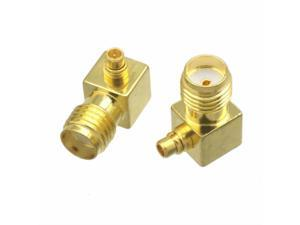1pc Adapter converter SMA female jack to MMCX male plug right angle RF COAXIAL