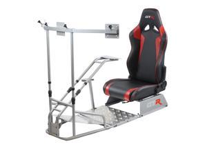 GTR Simulator - GTSF Model with Real Racing Seat, Driving Racing Simulator Cockpit with Gear Shifter Mount and Triple or Single Monitor Mount