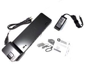 New HP UltraSlim Dock 2013 US Docking Station + 65W AC Adapter D9Y32UT D9Y32AA#ABA
